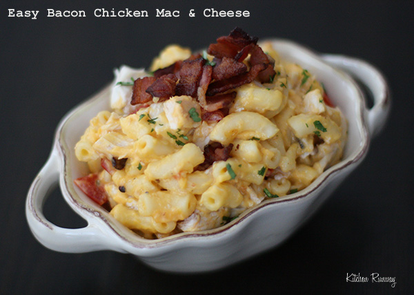 Easy Bacon Chicken Mac & Cheese #shop