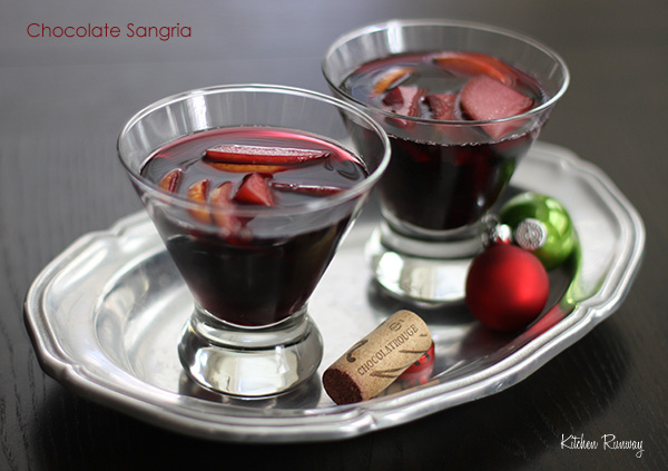 Chocolate Sangria #cheerstochocolate chocolatrouge sweet red wine #shop