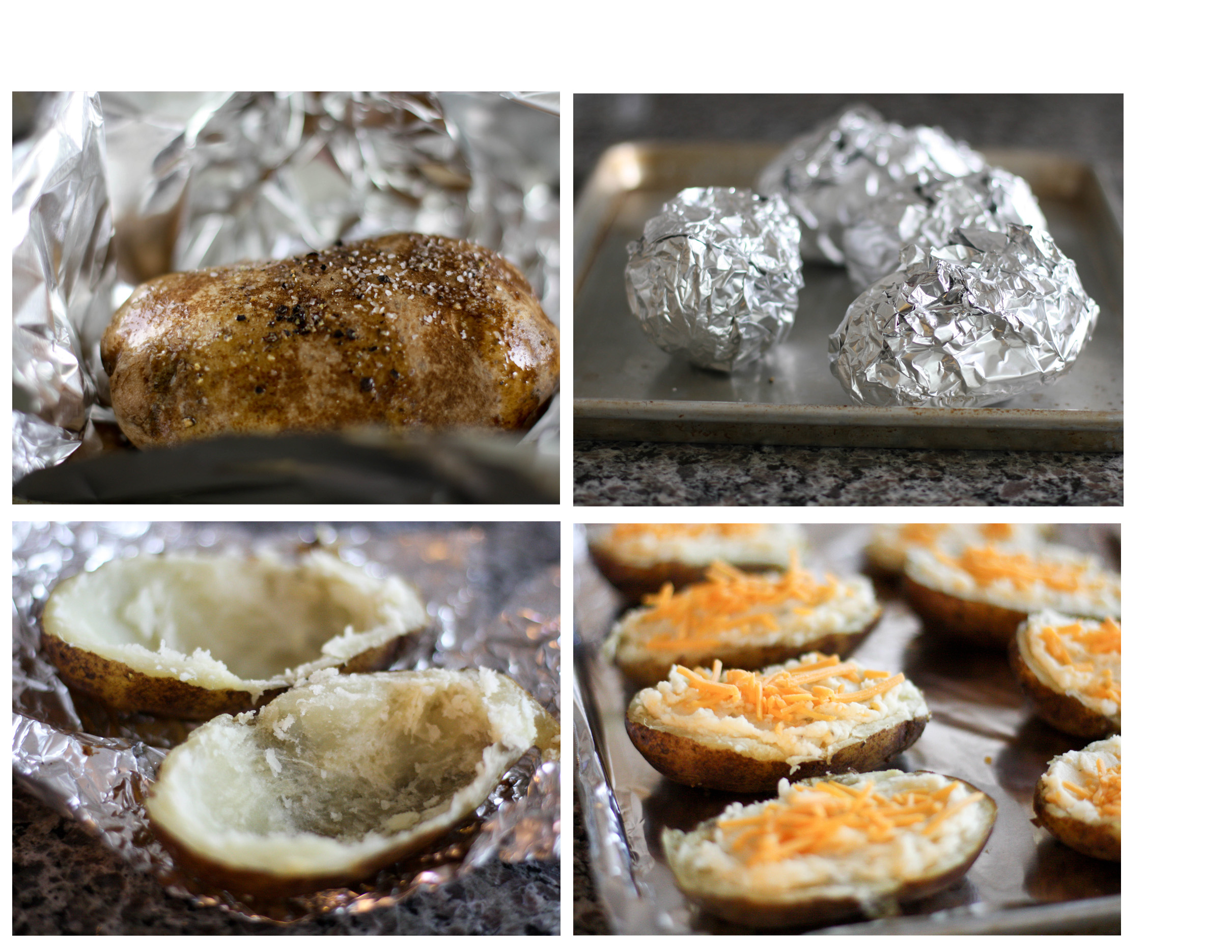 twiced baked potatoes step by step