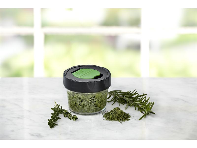 Ball dried herb jars