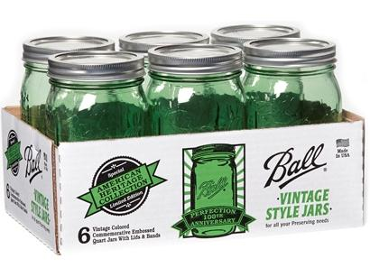 Ball Green Heritage Jars